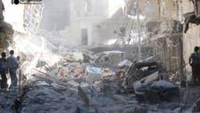 قصف بالبراميل المتفجرة على إنخل في ريف درعا