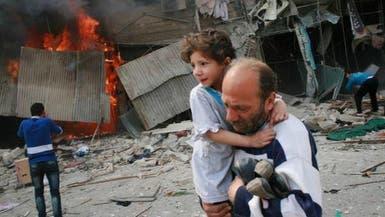 24 قتيلا في قصف النظام بالبراميل المتفجرة على إدلب وحلب