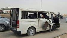 حادث انقلاب وتصادم على الدائري الغربي جنوب الرياض