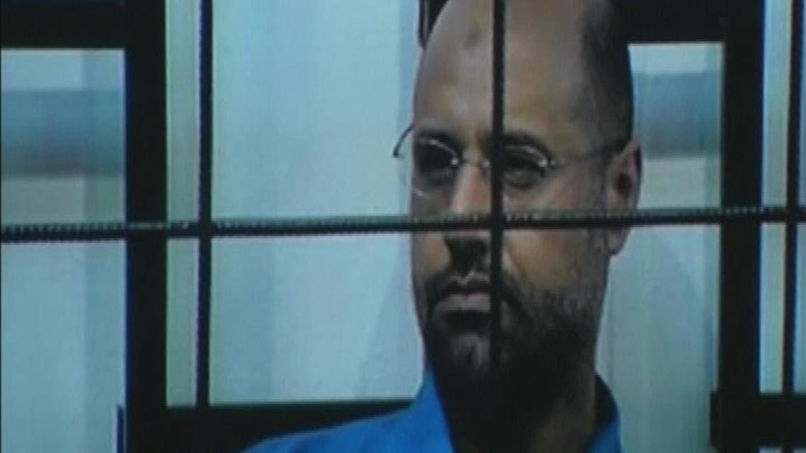 THUMBNAIL_ سيف الإسلام القذافي أمام المحكمة عبر دائرة تلفزيونية