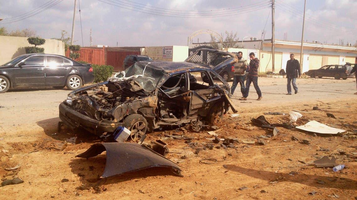 benghazi car explosion reuter