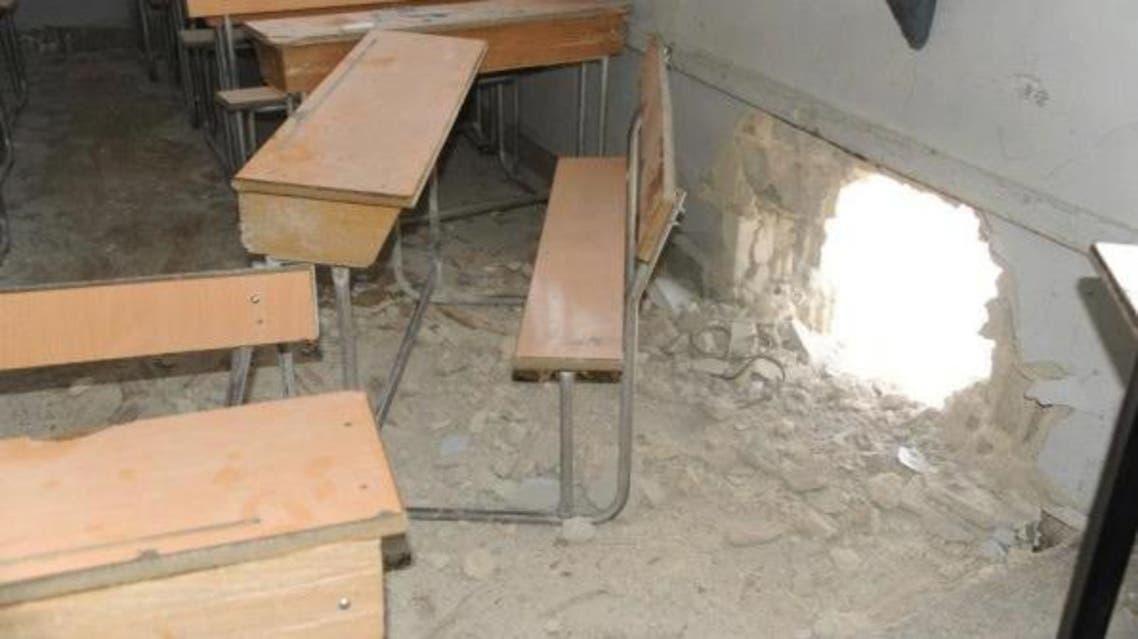 قصف بمدفعية الهاون على مدرسة في دمشق