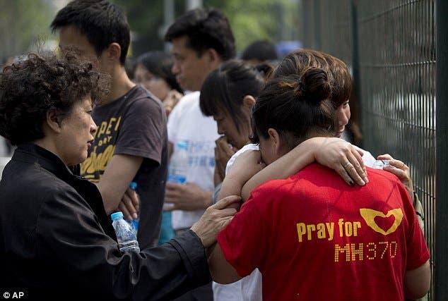 عائلات ركاب الطائرة الماليزية في الصين