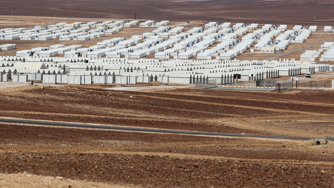 A general view of the new Azraq Syrian Refugee camp, which is under construction, near Al Azraq city, east of Amman, March 25, 2014.