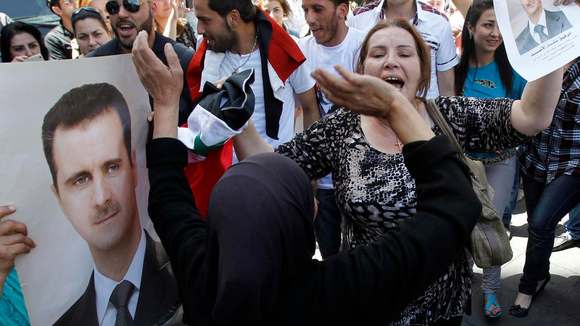 bashar supporters syrian elections reuters