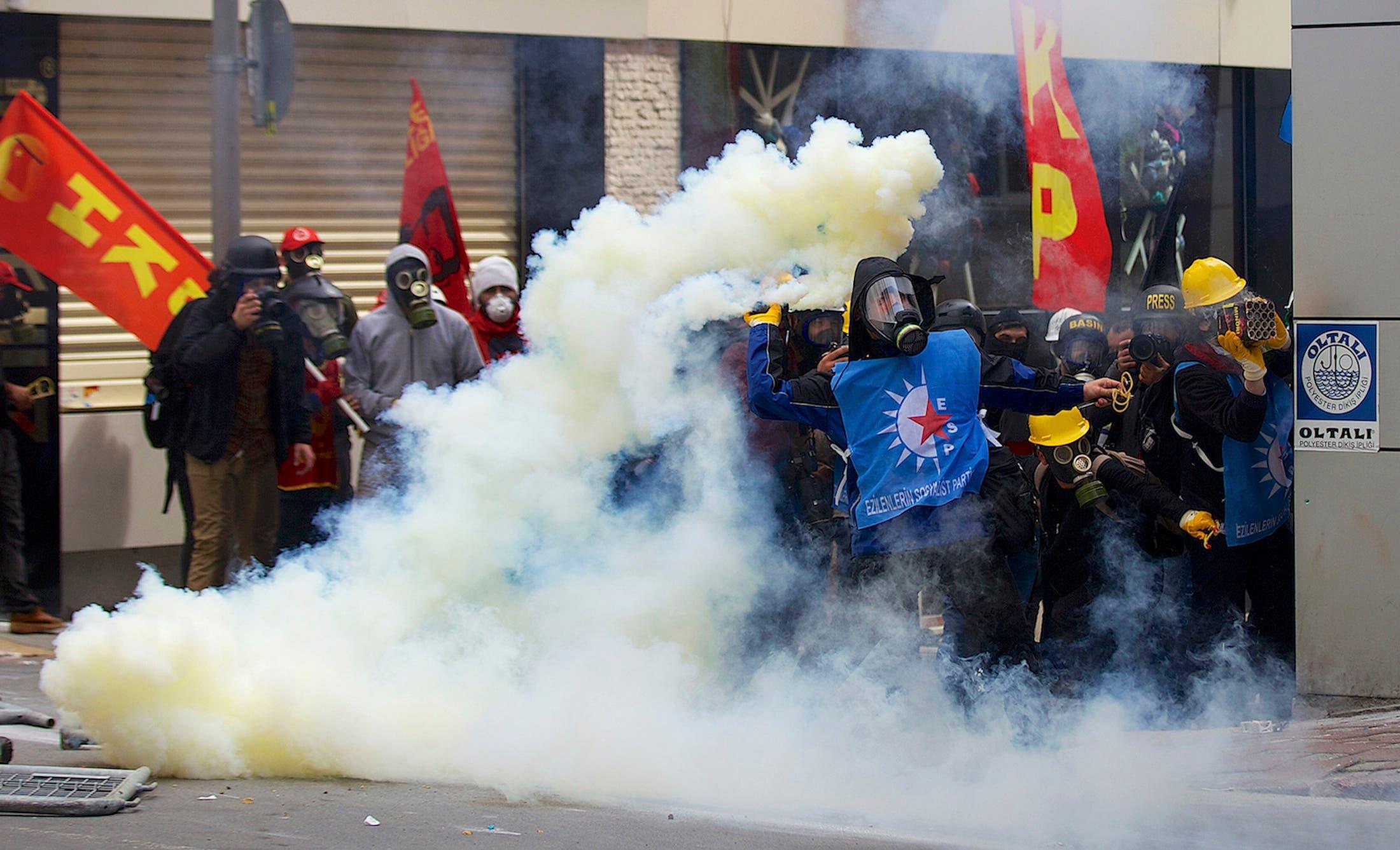 مظاهرات في تركيا بسبب عيد العمال