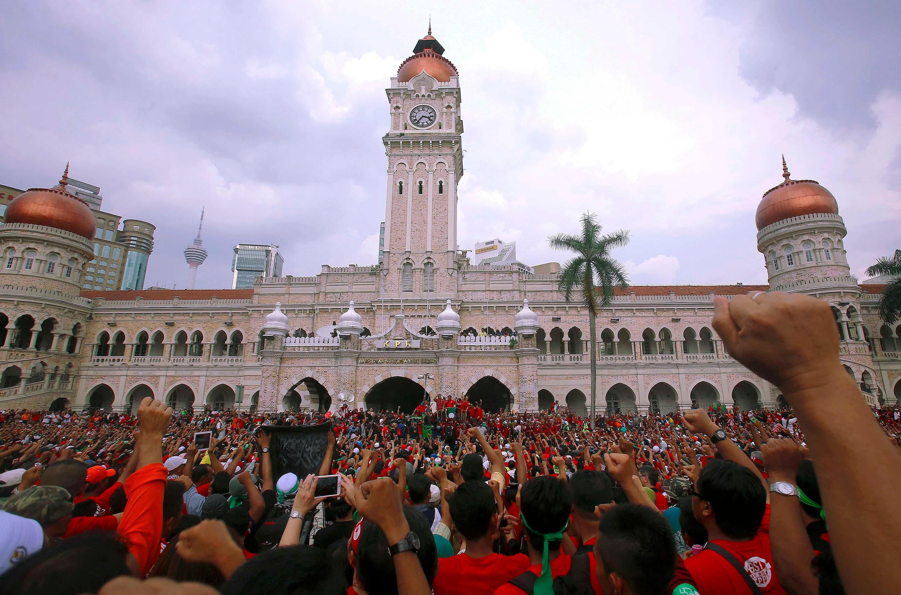 مظاهرات في ماليزيا بسبب عيد العمال