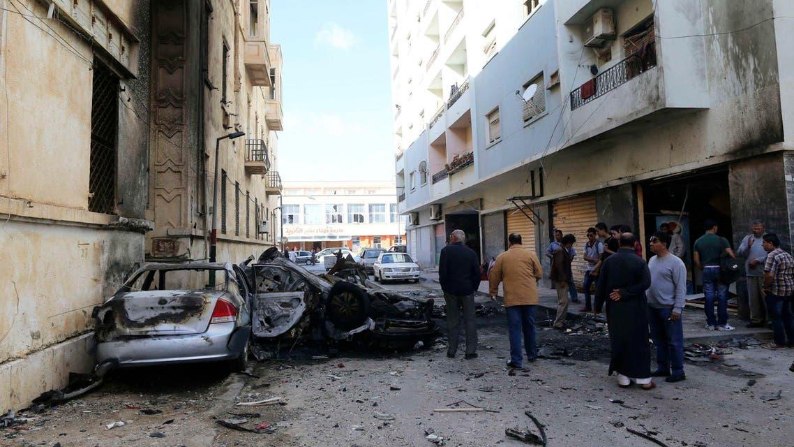 تفجير في ليبيا بنغازي