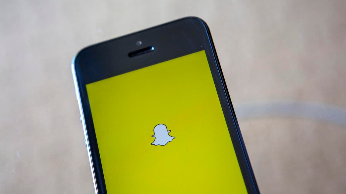 A portrait of the Snapchat logo in Ventura, California. (Reuters)