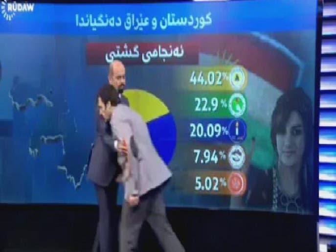 غش کردن مهمان یک برنامه زنده تلویزیونی درباره انتخابات عراق