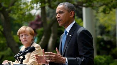 أوباما وميركل يحذران موسكو من أزمة أوكرانيا