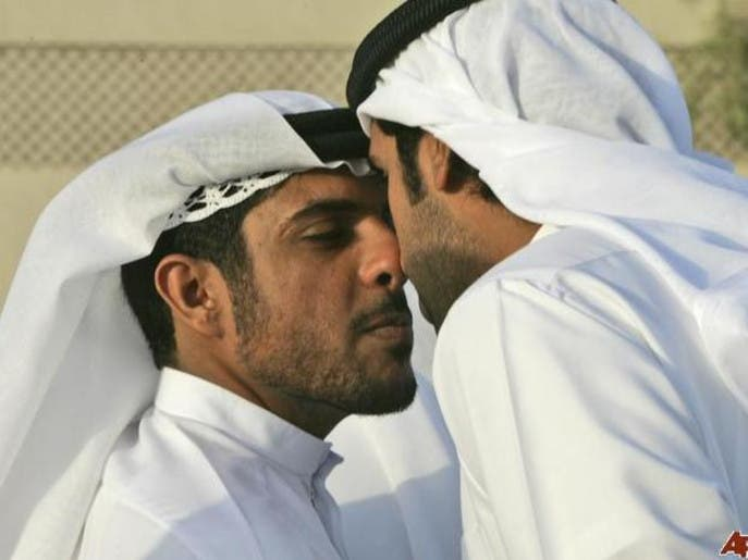 Nose kiss anyone how the gulf arab greeting has evolved al emirati men touch their noses after they performed the eid al fitr prayers in dubai photo courtesy ap m4hsunfo