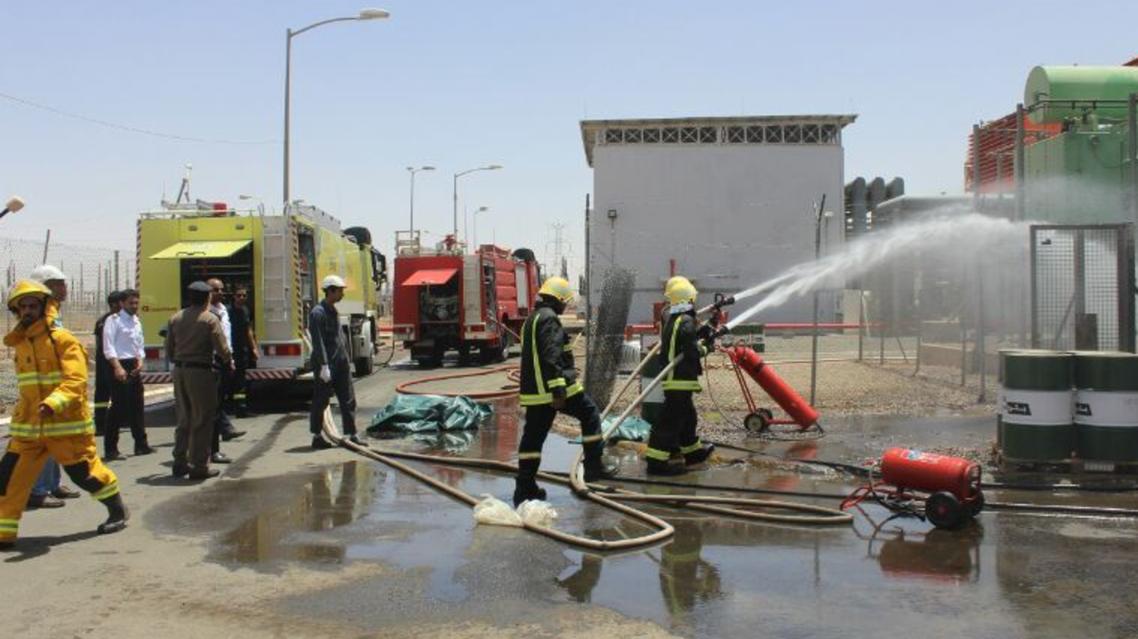 تفحم 2 وهلع شخص بحريق في شركة الكهرباء