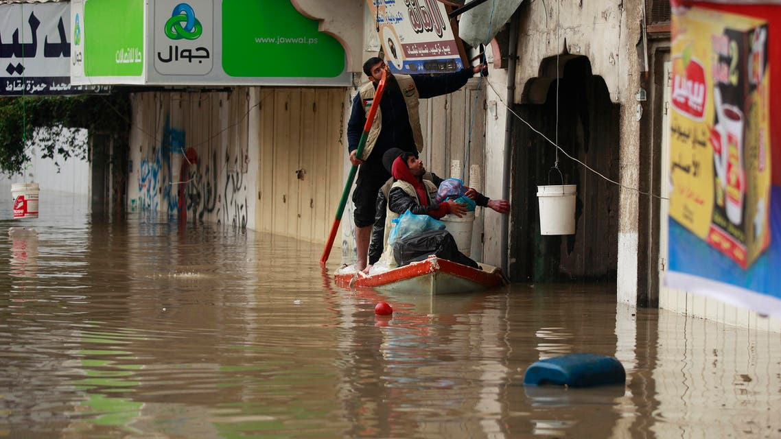 palestine flood gaza climate change retuers
