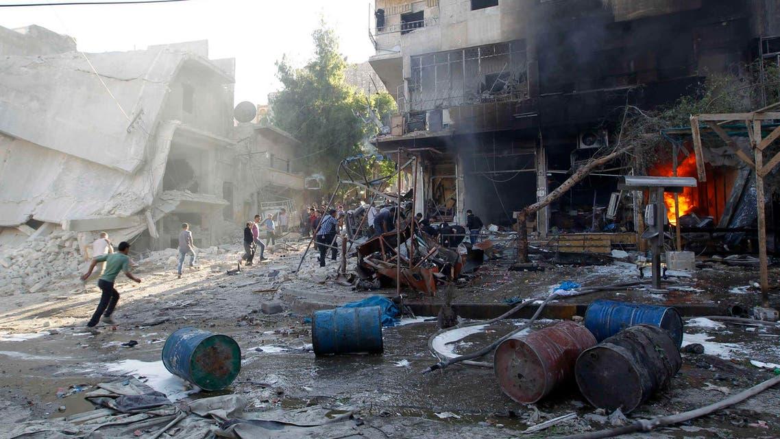 البراميل المتفجرة في سوريا