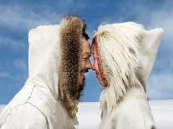 Nose kiss anyone how the gulf arab greeting has evolved al even eskimos traditionally rub noses photo courtesy the advertiser m4hsunfo