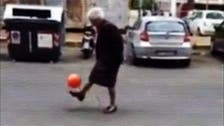 Italian 'granny' becomes Internet football star