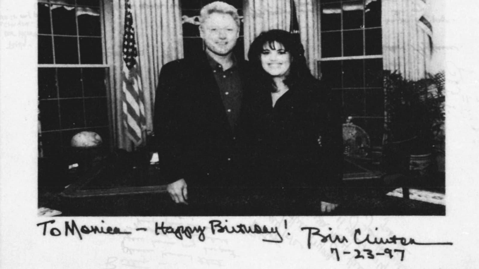 President Clinton is shown in a photo from evidence gathered by Independent Counsel Kenneth Starr in the White House sex scandal investigation in 1998. (Reuters)