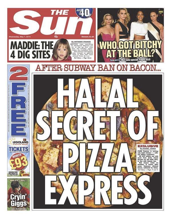 Halal hysteria'? UK's Pizza Express defends menu - Al