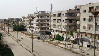مشهد من حي جب الجندلي بعد تنفيذ اتفاق الهدنة في حمص