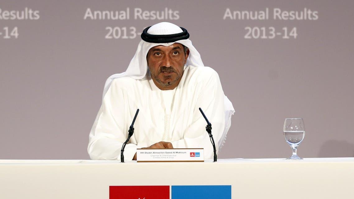 Emirates airlines Sheikh Ahmed bin Saeed al-Maktoum AFP
