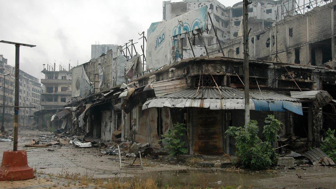 Homs in ruins