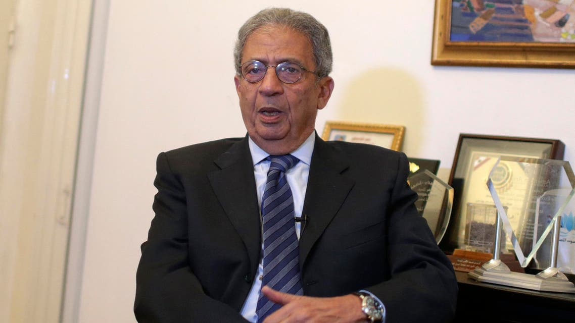 Former foreign minister Amr Moussa said recently that the Palestinian militant group Hamas must recognize Israel. (File photo: Reuters)