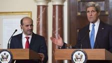 Syria's Jarba opens high-level talks in U.S. on Syria