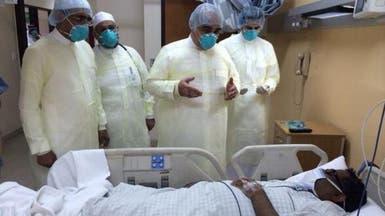 وزير الصحة يزور مرضى كورونا في المدينة المنورة