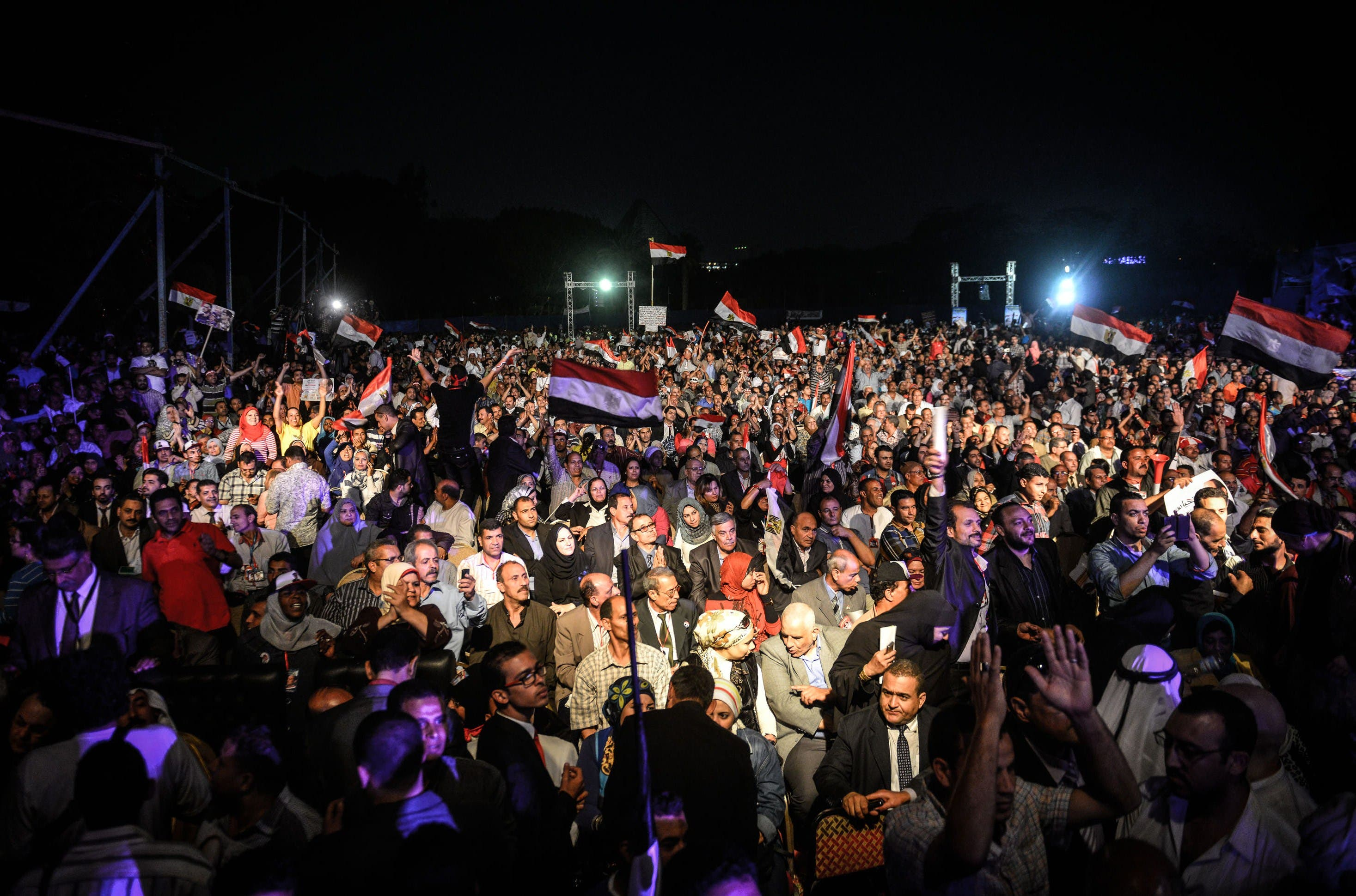 Sisi supporters hold presidential campaign rally