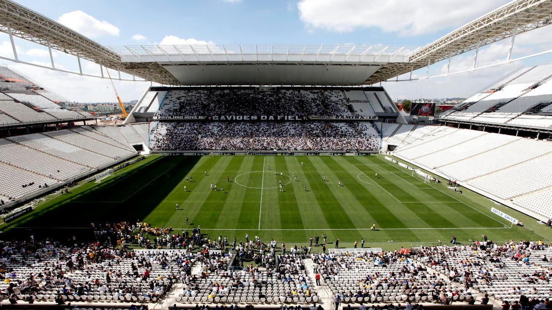 A general view is seen of the Arena de Sao Paulo Stadium, one of the venues for the 2014 World Cup REUTERS