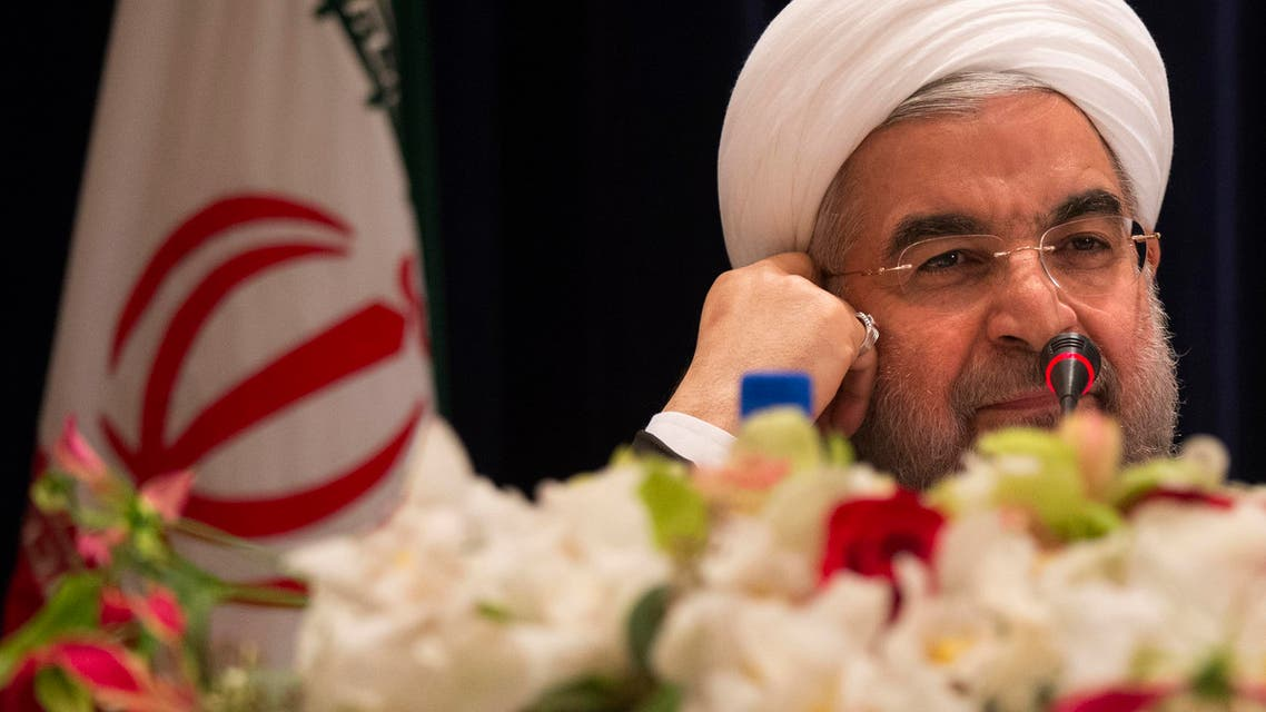 ran's President Hassan Rouhani takes questions from journalists during a news conference reuters