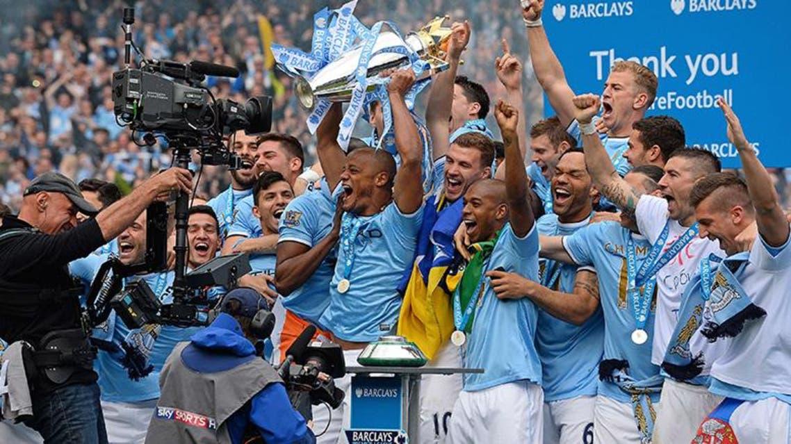 مانشستر سيتي بطل الدوري الانجليزي 2013-2014