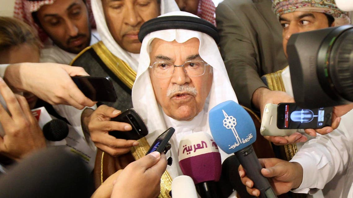 Saudi Oil Minister Ali al-Naimi speaks to reporters after a meeting in Riyadh in Sept. 2013. (File photo: Reuters)
