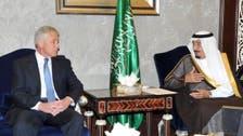 الأمير سلمان يبحث مع هيغل التطورات الدولية