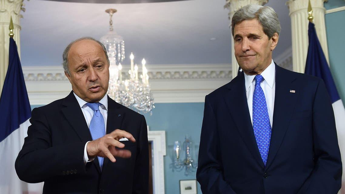 Laurent Fabius John Kerry AFP