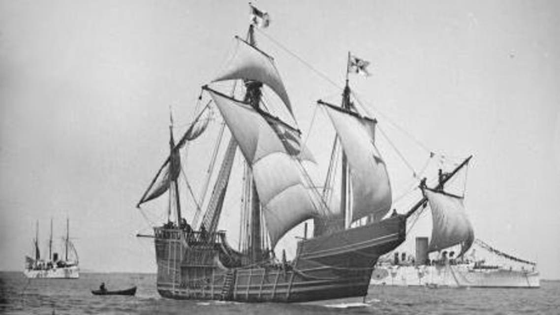 نموذج للسفينة سانتا ماريا