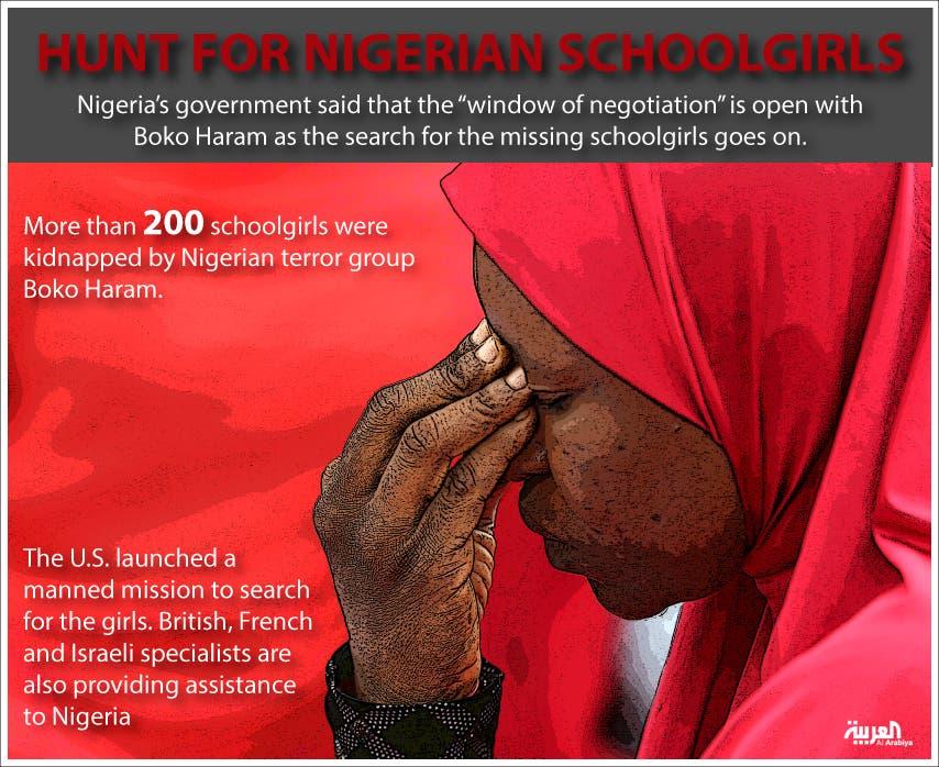 Infographic: Hunt for Nigerian schoolgirls