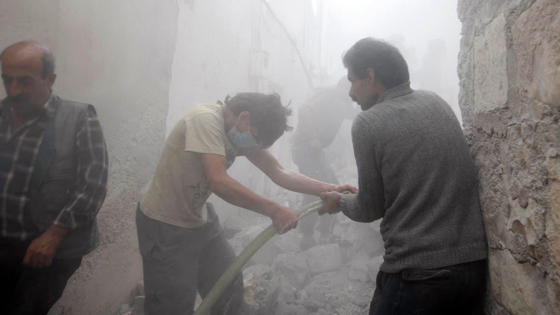 Air strikes in Syria reuters