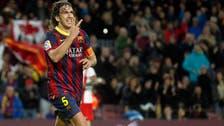 Puyol bids emotional farewell to Barcelona