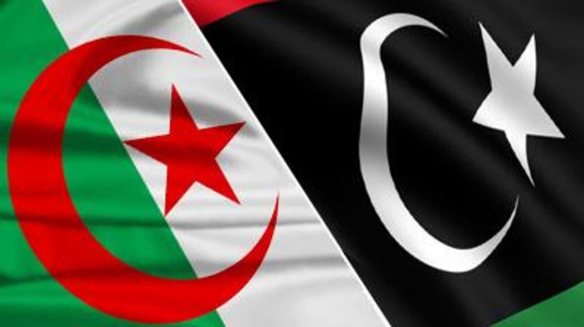 علم ليبيا والجزائر