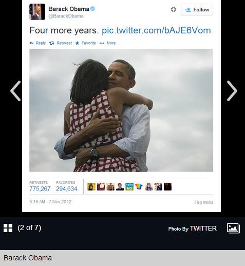 أوباما يحتضن زوجته على تويتر