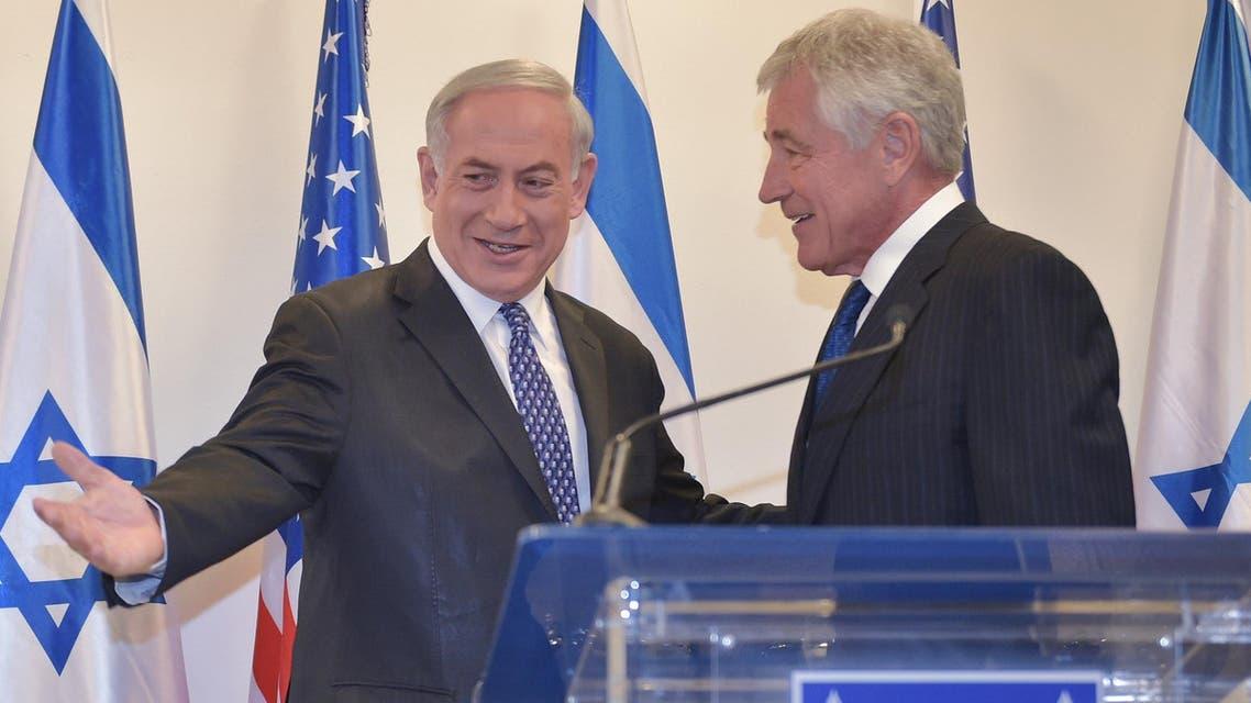 Netanyahu Hagel AFP
