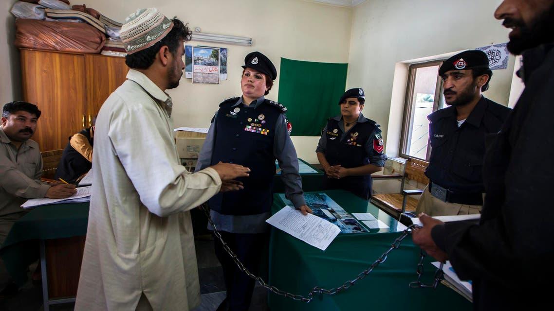Representational photo / Pakistani Police Inspector Shazadi Gillani (C) interrogates a man at a police station in Abbottabad Sept. 18, 2013.  (Reuters)