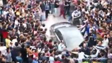 Turkey PM Erdogan's car attacked
