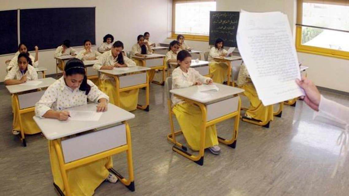 Saudi elementary students from Children`s World School sit for an exam in Jeddah June 13, 2007. REUTERS