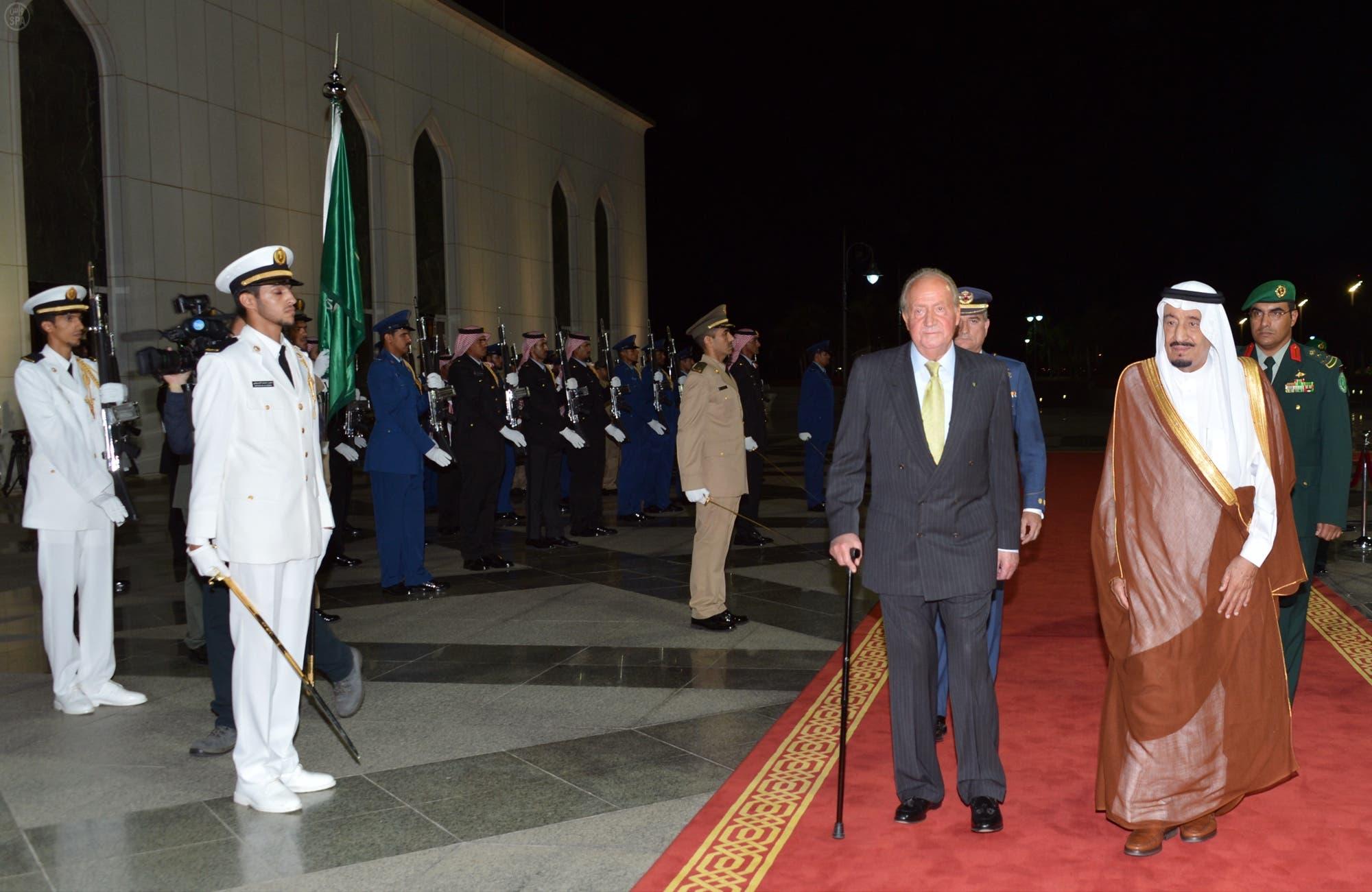 الأمير سلمان وخوان كارلوس