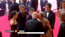 Iranian actress's Cannes kiss sparks furor