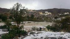 Rare hail blankets parts of southern Saudi province