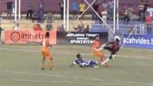 Footballer dies after horror challenge in Indonesia Premier League